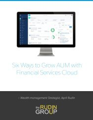 Six Ways to Grow AUM with Financial Services Cloud