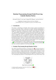 Runtime Programming through Model-Preserving, Scalable Runtime ...