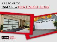 Reasons to Install a New Garage Door