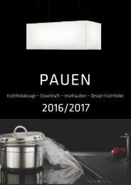 2016-2017 PAUEN Kochfeldabzug - Downdraft - Inselhauben -Design-Kochfelder