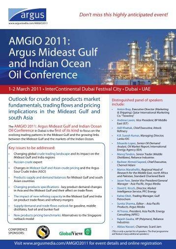 AMGIO 2011: Argus Mideast Gulf and Indian Ocean ... - Argus Media