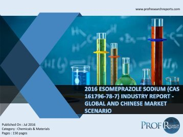2016 ESOMEPRAZOLE SODIUM (CAS 161796-78-7) INDUSTRY REPORT - GLOBAL AND CHINESE MARKET SCENARIO