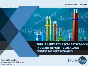 Lansoprazole Industry, 2011-2021 Market Research