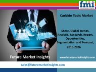 Carbide Tools Market with Worldwide Industry Analysis to 2026