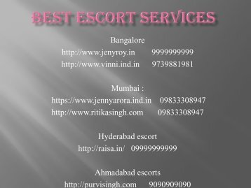 BEST ESCORT SERVICES