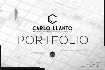 Carlo Llanto Architecture and Graphic Design Portfolio 1st Ed