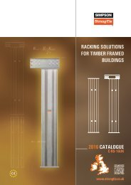RACKING SOLUTIONS FOR TIMBER FRAMED BUILDINGS 2016 CATALOGUE