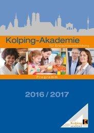 Kolping-Akademie München - Programm 2016 - 2017