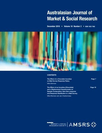 Australasian Journal of Market & Social Research - aprc-research