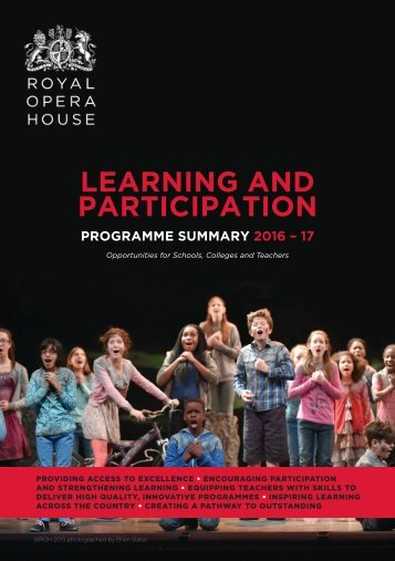 ROH Learning & Participation Programme Summary 2016/17