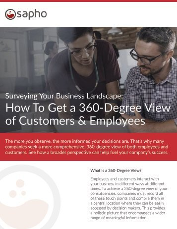 How To Get a 360-Degree View of Customers & Employees