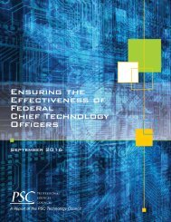 Ensuring the Effectiveness of Federal Chief Technology Officers