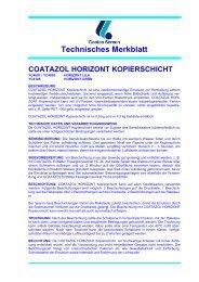 Technisches Merkblatt COATAZOL HORIZONT ... - KIT Siebdruck
