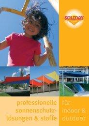 professionelle sonnenschutz- lösungen & stoffe für indoor & outdoor
