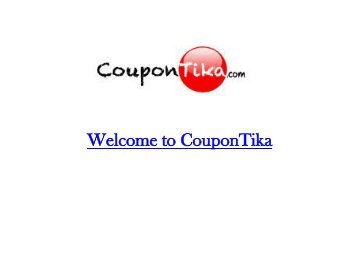 Welcome to CouponTika.com