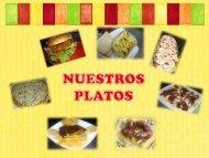 menu de platos