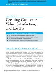 Creating Customer Value, Satisfaction, and Loyalty PART II ...