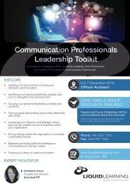Communication Professionals Leadership Toolkit