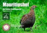 Mauritiushof Natur Magazin September 2016