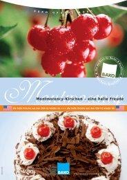 Montmorency-Kirschen – eine helle Freude - BÄKO Gruppe Nord
