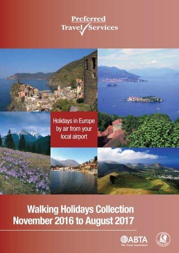 Walking Holidays 2016-2017