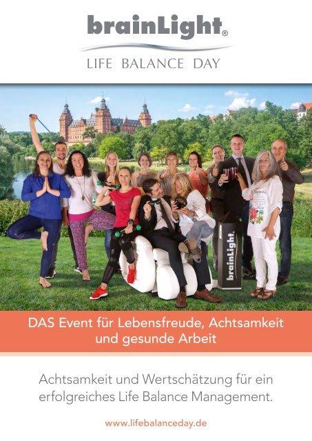 Broschüre Life Balance Day 2016
