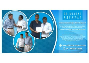 Indian Implantologist Bharat Agravat Received Advanced All-on-Four® Dental Implants Training from Dr. Robert Schroering from Kentucky (USA)