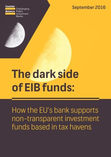 The dark side of EIB funds