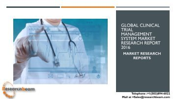 Global Clinical Trial Management System Market Research Report 2016