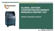 Global Oxygen Concentrator Market Research Report 2021
