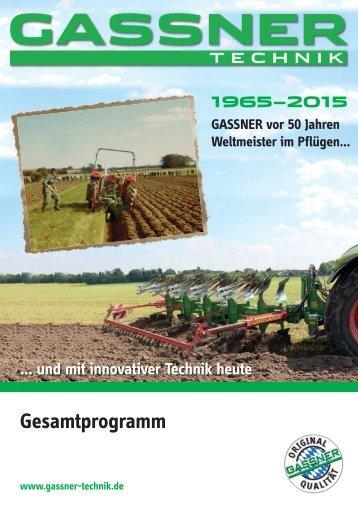 GASSNER TECHNIK Gesamtprogramm 2016/17