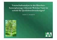 Vaterschaftsanalyse in der Kirschen- Samenplantage Liliental - BFW