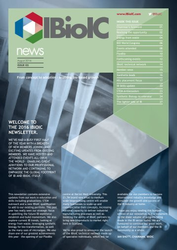THE 2016 IBIOIC NEWSLETTER