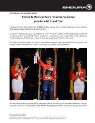 Endura & Movistar Team renuevan su alianza ganadora del Grand Tour