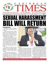 Caribbean Times 85th Issue - Monday 5th September 2016