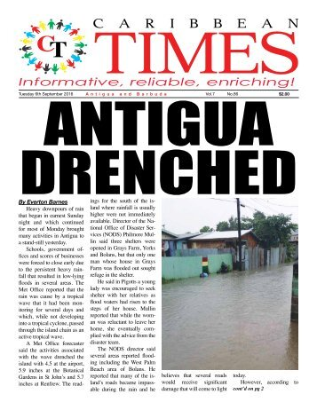 Caribbean Times 86th Issue - Tuesday 6th September 2016