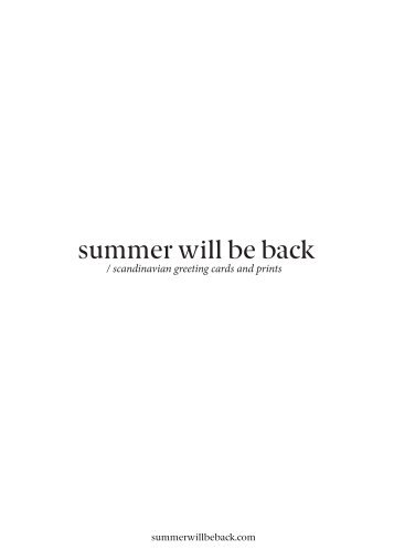 summer will be back 2016 FULL catalogue