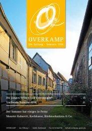 Overkamp-Zeitung Sommer 2016