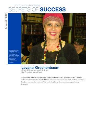 Levana Kirschenbaum - Foodservice East