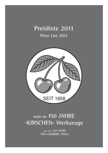 Preisliste 2011 - Kirschen
