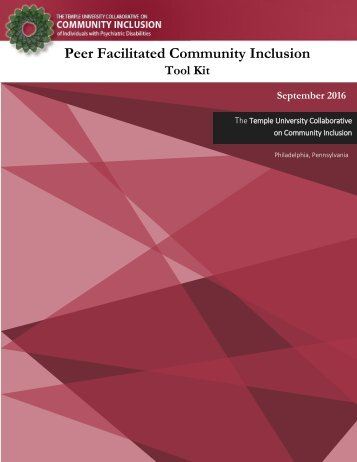 Peer Facilitated Community Inclusion