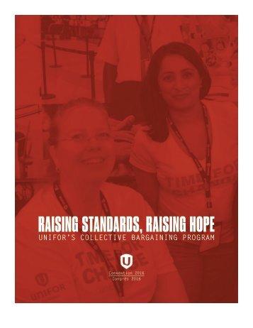 RAISING STANDARDS RAISING HOPE