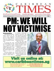 Caribbean Times 87th Issue - Wednesday 7th September 2016