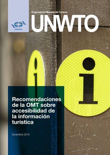 Recomendaciones de la OMT sobre accesibilidad de la información turística
