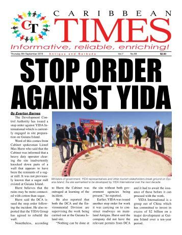 Caribbean Times 88th Issue - Thursday 8th September 2016