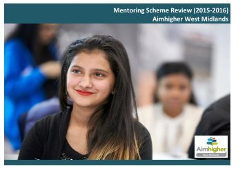 Mentoring Scheme Review (2015-2016) Aimhigher West Midlands