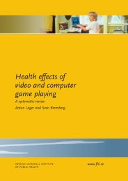 Health effects of video and computer game playing A systematic ...