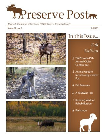 Preserve Post - Fall Edition 2016