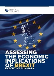 ASSESSING THE ECONOMIC IMPLICATIONS OF BREXIT