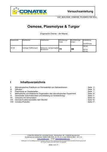 Osmose, Plasmolyse & Turgor - Conatex-Didactic Lehrmittel GmbH